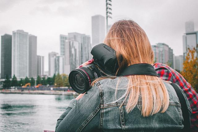 fotografka ve městě