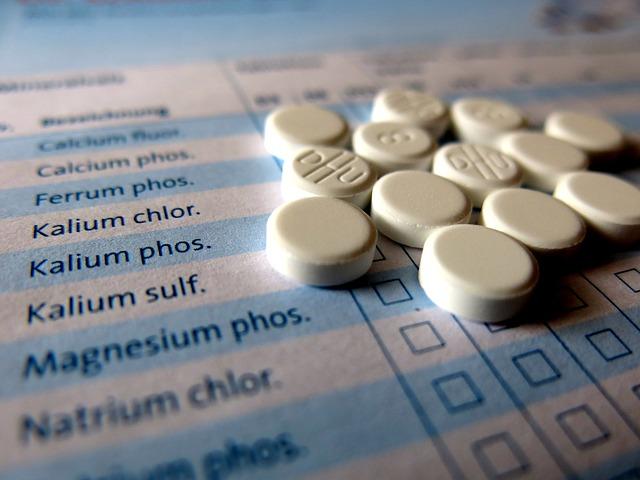 homeopatické tablety